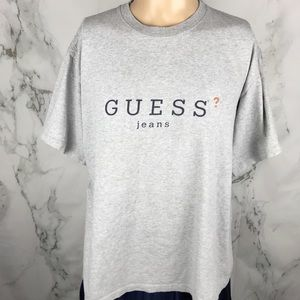 Vintage Guess Jeans Spell Out T-shirt
